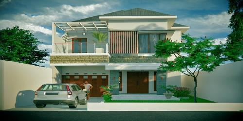 Desain 3D Rumah Mewah Bpk.Hubertus Teguh Karyadi di Ngaglik, sleman