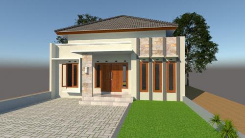 Desain Rumah I Lantai Bpk.Edual Adji Brameswara di Bantul