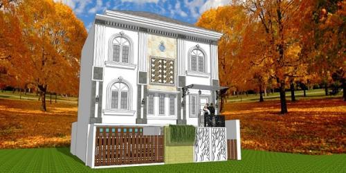 Desain 3D Rumah III Lantai Bpk.Henry Yuliansah di Palagan Sleman