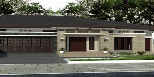 Desain 3D Rumah I Lantai Bpk.Suhardi di Ngaglik