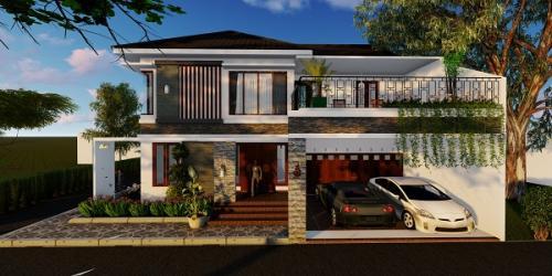 Desain 3D Bangun Rumah II Lantai Bpk.Ronny Hadibowo ST di Banguntapan,Bantul